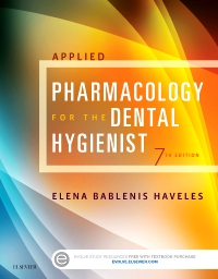 cover image - Evolve Resources for Applied Pharmacology for the Dental Hygienist,7th Edition