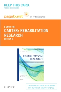 cover image - Rehabilitation Research - Elsevier eBook on Vitalsource (Retail Access Card),5th Edition
