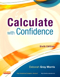 cover image - Drug Calculations Online for Calculate with Confidence,6th Edition