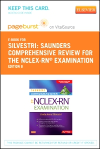 cover image - Saunders Comprehensive Review for the NCLEX-RN® Examination Elsevier Plus Evolve Access Code (Retail Access Cards),6th Edition
