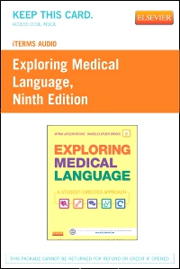 cover image - iTerms Audio for Exploring Medical Language,9th Edition
