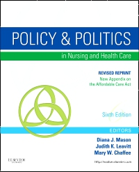 cover image - Policy and Politics in Nursing and Healthcare - Revised Reprint - Elsevier eBook on VitalSource,6th Edition