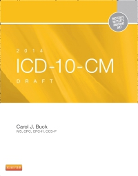 cover image - 2014 ICD-10-CM Draft Edition - Elsevier eBook on VitalSource