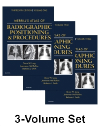 cover image - Merrill's Atlas of Radiographic Positioning and Procedures,13th Edition