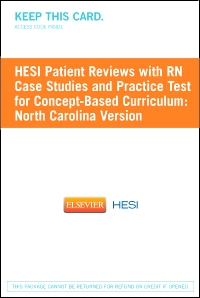cover image - HESI Patient Reviews with RN Case Studies and Practice Test for Concept-Based Curriculum: North Carolina Version