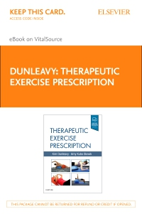 cover image - Therapeutic Exercise Prescription - Elsevier eBook on VitalSource (Retail Access Card)