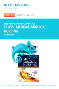 cover image - Elsevier Adaptive Learning for Medical-Surgical Nursing (Access Card),9th Edition