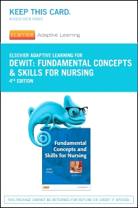 cover image - Elsevier Adaptive Learning for Fundamentals Concepts and Skills for Nursing (Access Card),4th Edition