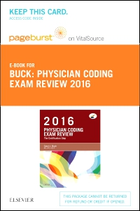 cover image - PART - Physician Coding Exam Review 2016 - Elsevier eBook on VitalSource (Retail Access Card)