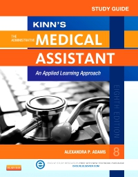 cover image - Study Guide for Kinn's The Administrative Medical Assistant - Elsevier eBook on VitalSource,8th Edition
