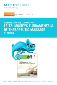 cover image - Elsevier Adaptive Learning for Mosby's Fundamentals of Therapeutic Massage (Access Card),5th Edition