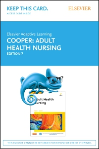 cover image - Elsevier Adaptive Learning for Adult Health Nursing (Retail Access Card),7th Edition