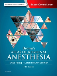 cover image - Brown's Atlas of Regional Anesthesia,5th Edition