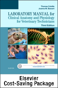 cover image - Clinical Anatomy and Physiology for Veterinary Technicians - Text and Laboratory Manual Package,3rd Edition