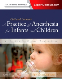 cover image - A Practice of Anesthesia for Infants and Children Elsevier eBook on VitalSource,5th Edition