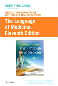 cover image - Medical Terminology Online with Elsevier Adaptive Learning for The Language of Medicine (Access Card),11th Edition