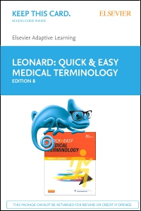 cover image - Elsevier Adaptive Learning for Quick & Easy Medical Terminology (Access Card),8th Edition