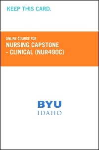 cover image - Nursing Capstone- Clinical Course Fee (NUR490C CF)