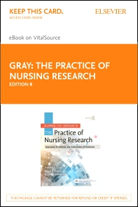 cover image - Burns and Grove's The Practice of Nursing Research - Elsevier eBook on Vital Source (Retail Access Card),8th Edition
