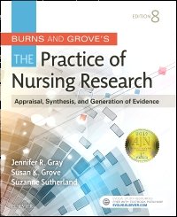 cover image - Burns and Grove's The Practice of Nursing Research - Elsevier eBook on VitalSource,8th Edition