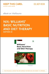 cover image - Williams' Basic Nutrition & Diet Therapy - Elsevier eBook on VitalSource (Retail Access Card),15th Edition