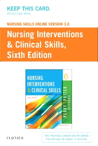 cover image - Nursing Skills Online Version 3.0  for Nursing Interventions & Clinical Skills (Access Code),6th Edition