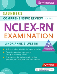 cover image - Saunders Comprehensive Review for the NCLEX-RN® Examination - Elsevier eBook on VitalSource,7th Edition