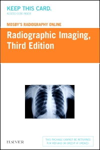 cover image - Mosby's Radiography Online: Radiographic Imaging (Access Code),3rd Edition