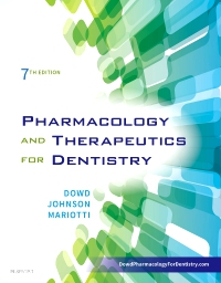 cover image - Pharmacology and Therapeutics for Dentistry,7th Edition