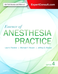 cover image - Essence of Anesthesia Practice,4th Edition