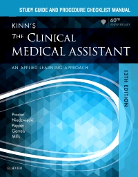 cover image - Study Guide and Procedure Checklist Manual for Kinn's The Clinical Medical Assistant,13th Edition