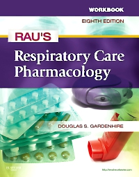 cover image - Workbook for Rau's Respiratory Care Pharmacology - Elsevier eBook on VitalSource,8th Edition