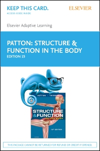 cover image - Elsevier Adaptive Learning for Structure and Function of the Body (Access Card),15th Edition