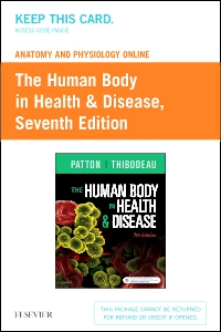 cover image - Anatomy and Physiology Online for The Human Body in Health & Disease (Access Code),7th Edition