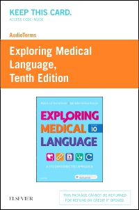 cover image - AudioTerms for Exploring Medical Language - Retail Pack,10th Edition