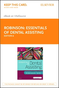 cover image - Essentials of Dental Assisting - Elsevier eBook on VitalSource (Retail Access Card),6th Edition