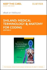 cover image - Medical Terminology & Anatomy for Coding - Elsevier eBook on VitalSource (Retail Access Card),3rd Edition