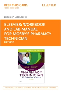 cover image - Workbook and Lab Manual for Mosby's Pharmacy Technician - Elsevier eBook on VitalSource (Retail Access Card),5th Edition