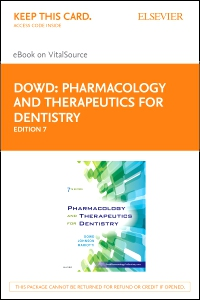 cover image - Pharmacology and Therapeutics for Dentistry - Elsevier eBook on VitalSource (Retail Access Card),7th Edition