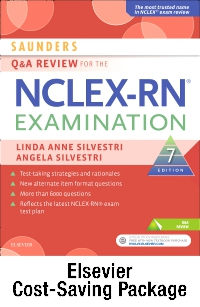cover image - Saunders Q & A Review for the NCLEX-RN® Examination - Elsevier eBook on VitalSource + Evolve Access (Retail Access Cards),7th Edition