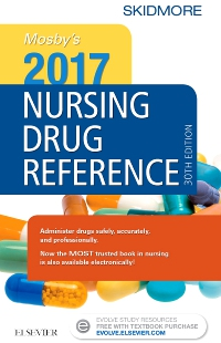 cover image - Mosby's 2017 Nursing Drug Reference - Elsevier eBook on VitalSource,30th Edition