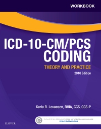 cover image - Workbook for ICD-10-CM/PCS Coding Theory and Practice, 2016 Edition - Elsevier eBook on VitalSource
