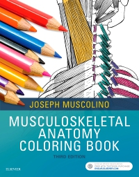 cover image - Musculoskeletal Anatomy Coloring Book,3rd Edition