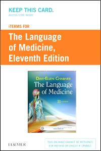 cover image - iTerms Audio for The Language of Medicine - Retail Access Card,11th Edition
