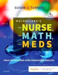 cover image - Mulholland's The Nurse, The Math, The Meds,4th Edition