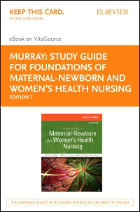cover image - Study Guide for Foundations of Maternal-Newborn and Women's Health Nursing - Elsevier eBook on VitalSource (Retal Access Card),7th Edition