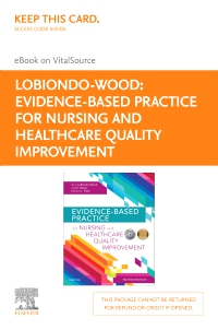 cover image - Evidence-Based Practice for Nursing and Healthcare Quality Improvement - Elsevier eBook on VitalSource (Retail Access Card)