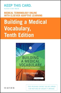 cover image - Medical Terminology Online with Elsevier Adaptive Learning for Building a Medical Vocabulary (Access Card),10th Edition