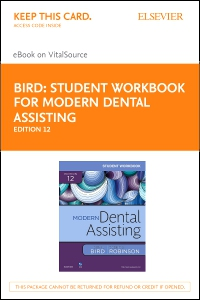 cover image - Student Workbook for Modern Dental Assisting - Elsevier eBook on VitalSource (Retail Access Card),12th Edition