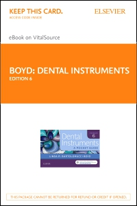 cover image - Dental Instruments - Elsevier eBook on VitalSource (Retail Access Card),6th Edition